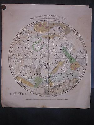 Celestial Map 1835 Stars Constellations Centaur By Burnitt