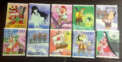 2008 Animation Heros set complete, all different, used stamps, excellent -(10)