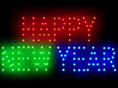Happy New Year Led Neon Sign Display Light Sign New