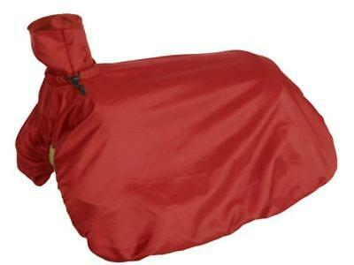 Showman Fitted Nylon Western Saddle Cover RED Folds Up w/Drawstring