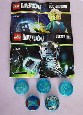 LEGO Dr Doctor Who Cyberman Dimension Level Fun Pack Dalek 71204 71238 Disk Only