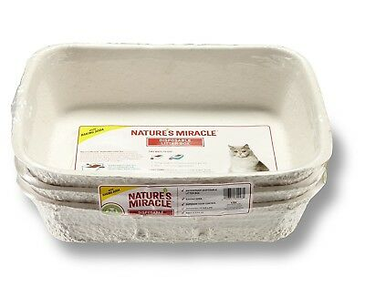 Nature's Miracle Disposable Litter Box with Baking Soda - 3-Pack