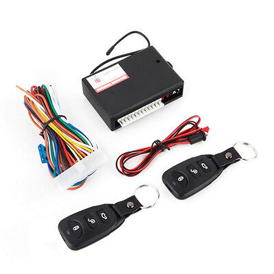 Universal Car 2 Remote Central Kit Door Lock Vehicle Keyless LED 12v wire