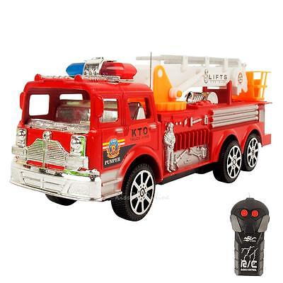 Remote Control Electric Simulation Fire Fighting Truck For 3 Years Old Up Kids
