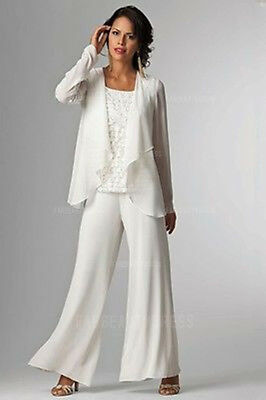 Custom Long Mother of the Bride Pants Suit Party/Formal/Evening Ladies Suits New