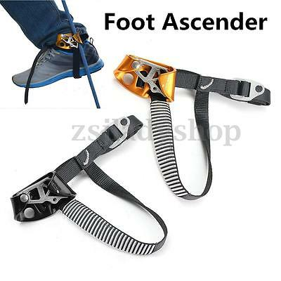 Outdoor Mountaineering Rock Climbing Left /Right Foot Rope Ascender Safety Tool