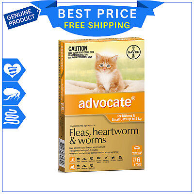 ADVOCATE for Cats Upto 4 Kg ORANGE 6 Pipettes + FREE 2 Pipettes by Bayer