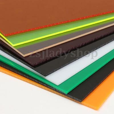 Colorful 3mmA2 A3 A4 A5 A6 Acrylic Perspex Sheet Cut to Size Panel Plastic Satin