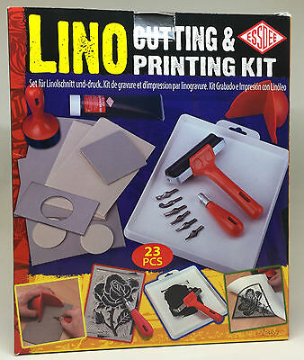 Essdee 23 Piece Comprehensive Block Printing Lino Cutting & Printing Kit