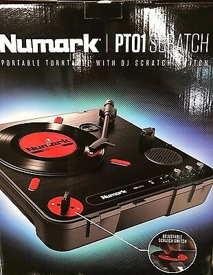 Numark PT01 Scratch | Portable Turntable with Built-In DJ Scratch Switch
