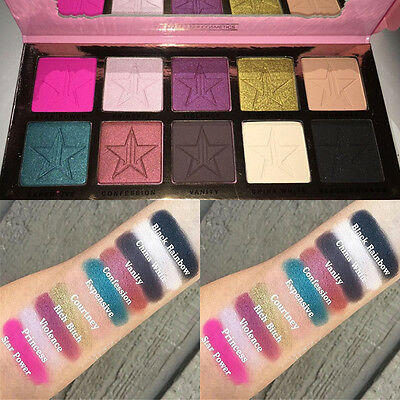 10 Colors Matte Pigment Eyeshadow Palette Makeup Eye Shadow Stars Colorful