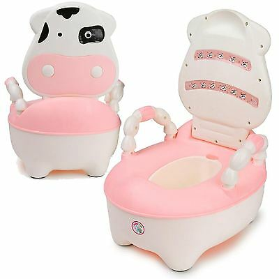 Pink Baby Kid Toddler Training Toilet Urinal Stool Seat Potty Chair Trainer