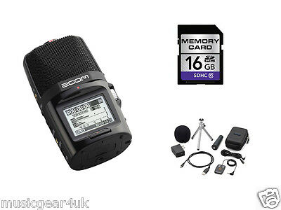 Zoom H2n Handy Recorder w/ 16GB SD Card + Official Accessory Pack (APH-2N)