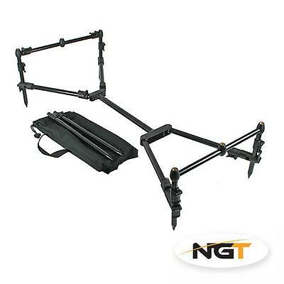 NGT Nomadic Pod 3 Rod Carp Fishing Rod Pod inc Case
