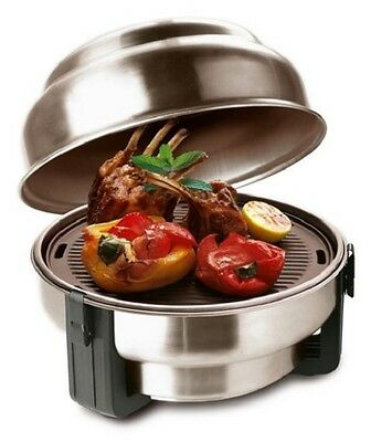 OlPro Safire BBQ Charcoal Barbeque Grill Roaster & Accessories Stainless Steel