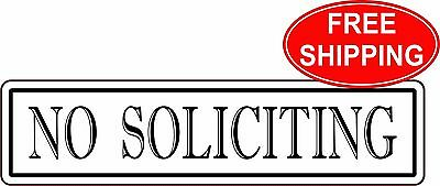 no soliciting no flyers sign 1 5 x 6 free shipping 6 30