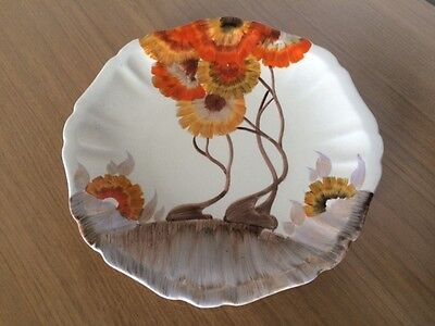 "Clarice Cliff ""Rhodanthe"" pattern frill edge plate – Lovely Condition"