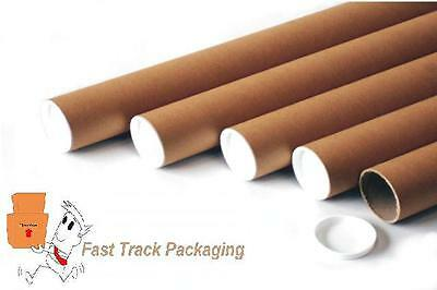 10 x A3/A4 SIZE POSTAL TUBES, EXACT SIZE IS 330mm (L) x 45mm DIAMETER