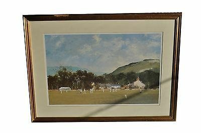 Framed Cricket Print by Roy Perry