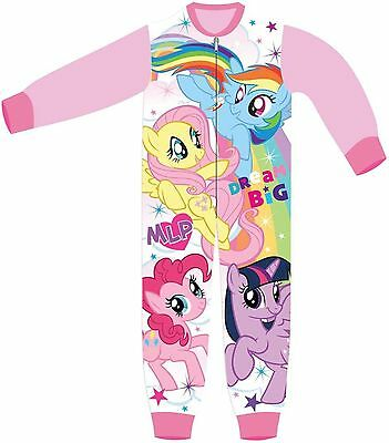 Girls Character My Little Pony Fleece Mlp All In One Sleepsuit Girls Pyjamas Pjs