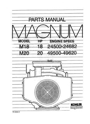 Kohler-Magnum-M18-18HP-24500-24682-M20-20HP-49500-49620  Hp Kohler Engine Mv Wiring Diagram on