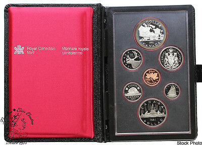 Canada 1981 Train Double Dollar Proof Coin Set