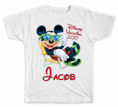 Personalized Disney Vacation Relaxing Mickey Mouse T-Shirt