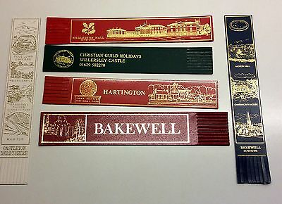 6 Leather Bookmarks Of Derbyshire