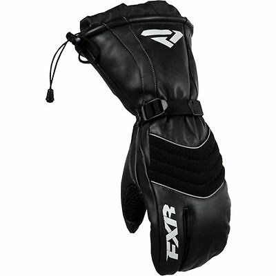 FXR Racing Leather Index Mens Snowboard Skiing Snowmobile Mitts