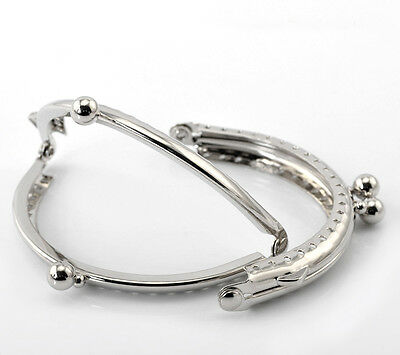 Silver Plated Purse / Bag Frame - Sew In Style - 8.5cm x 6cm
