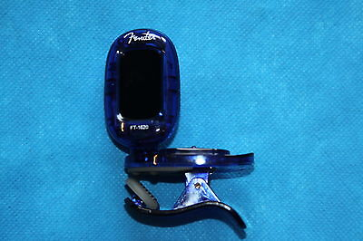 Fender California Clip-On Chromatic Tuner, Auto On/Off, Blue, FT-1620, 239981002