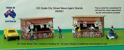 HO Scale Newspaper Stand x 2  3D Model Railway Building Kit - RENS1