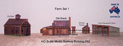 HO Scale Shack Barn Shed Dunny Smoke House Model Railway Building Kit - BSDSFS1