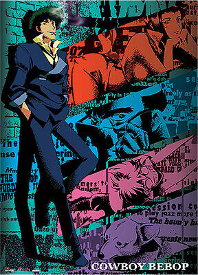Cowboy Bebop Spike and Group Wall Scroll Poster Anime Manga NEW
