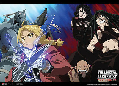 Fullmetal Alchemist Ed, Al, Lust, Envy Wall Scroll Poster Anime Manga NEW