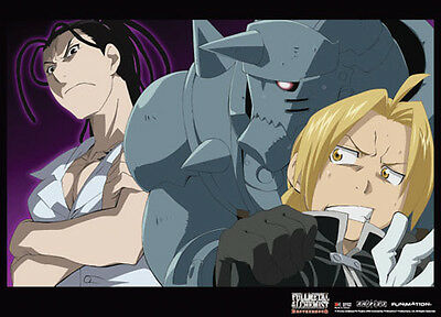 Fullmetal Alchemist Group Wall Scroll Poster Anime Manga NEW