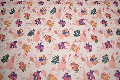"Quilt Fabric Blue Airplane Baby Print Craft Apparel Multi Purpose 45/""Wide #113"