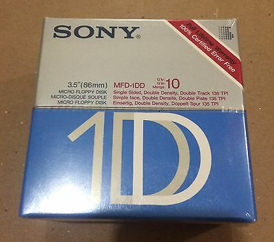 "3.5"" SONY FLOPPY DISKS 1.44Mb - BLANK - 10 PACK (NEW)"