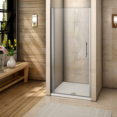 Frameless Pivot Shower Enclosure and Stone Tray Tempered Glass Screen Cubicle