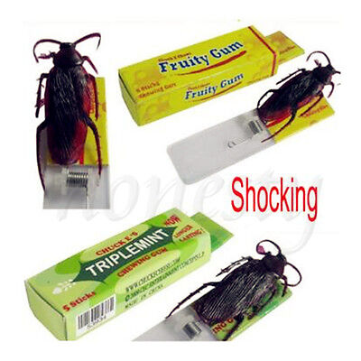 Funny Shock Joke Insects Chewing Gum Shocking Toy Gift Gadget Prank Trick Gag