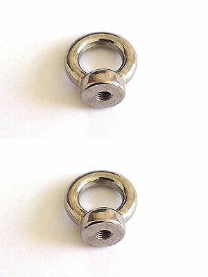 2X  6Mm Stainless Steel 316 Eye Nut - Shade Sail Boat Roof Rack Nut Bolt