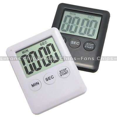 Magnetic Large LCD Display Digital Kitchen Timer Count Down Up Clock Loud Alarm
