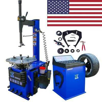 New 1.5 HP Tire Changer Wheel Changers Machine Combo Balancer Rim Clamp 950 680