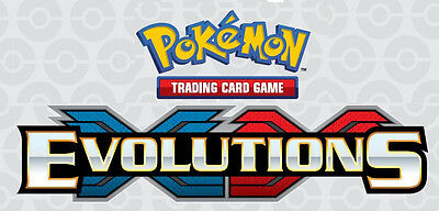 XY EVOLUTIONS Booster Code Cards - New Pokemon Online TCG Email Codes TCGO