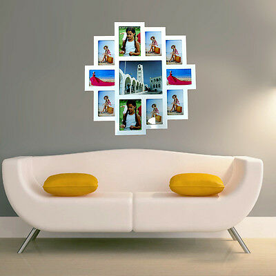 Wooden 11 Photo Picture Frame Collage White PhotoFrame Wall Decor Gift 64x63cm
