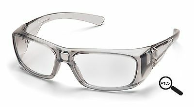Pyramex Emerge 1.5 Clear Full Reader Lens Reading Safety Glasses SG7910D15
