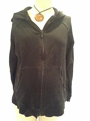 [283] M&S Ltd Collection Maternity Black long sleeved Hoodie Cardigan Size 10