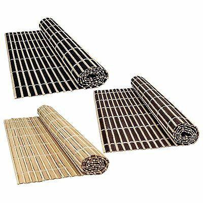 Bamboo Wood Table Placemats Serving Dining Sushi Oriental Large Roll Up Mats