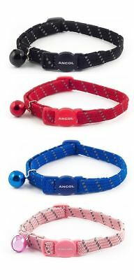 Ancol Cat Collar Softweave Reflective Adjustable with Safety Buckle and Bell