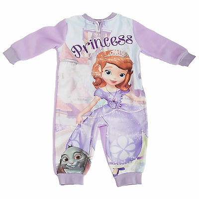 Disney Childrens/Girls Sofia The First Fleece Onesie